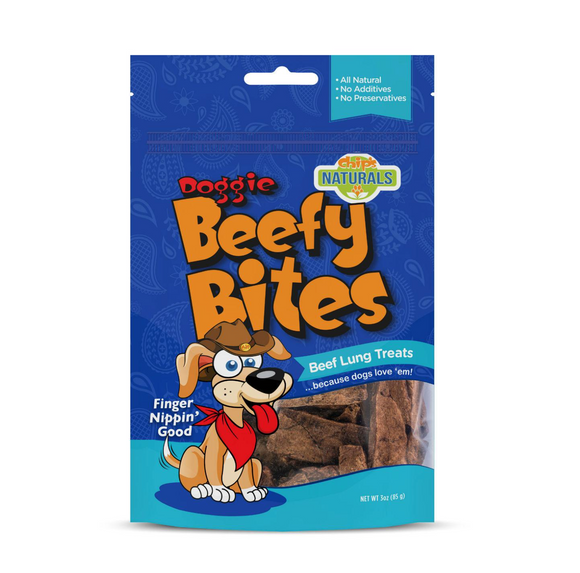 Doggie Beefy Bites Treat (3oz Bag)
