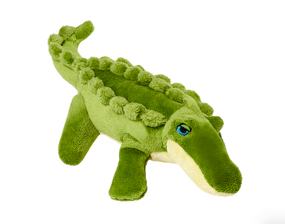 Fluff & Tuff Savannah Baby Gator Dog Toy