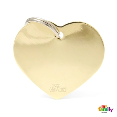 BIG HEART CHROMED BRASS