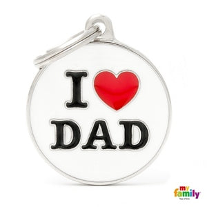 I Love Dad (Customizable) Engraved ID Dog Tag
