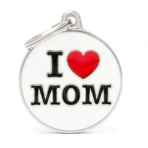 I Love Mom (Customizable) Engraved ID Dog Tag