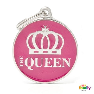 The Queen (Customizable) Engraved ID Dog Tag