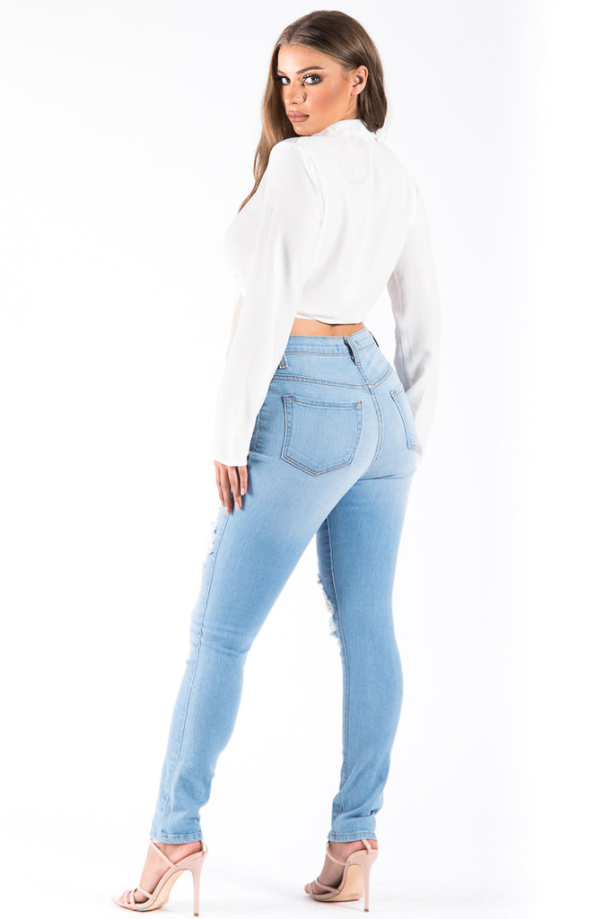 Kristen High Rise Skinny Jean in Light Blue