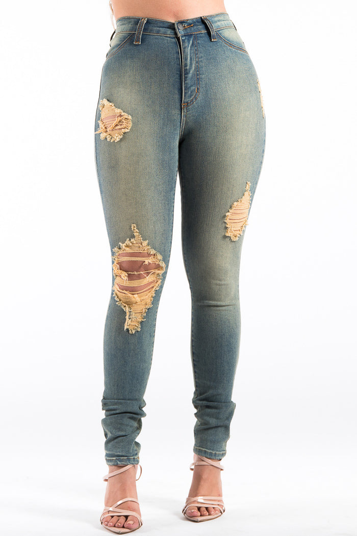 Kristen High Rise Jean in Sand Wash