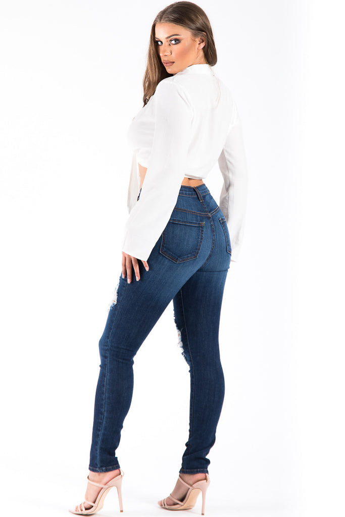 Kristen High Rise Skinny Jean in Dark Blue