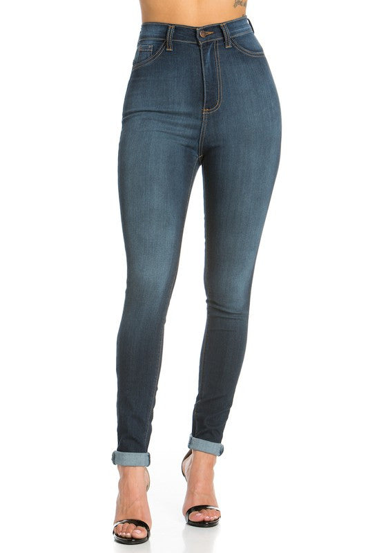 Dark Blue High Rise Skinny Jean