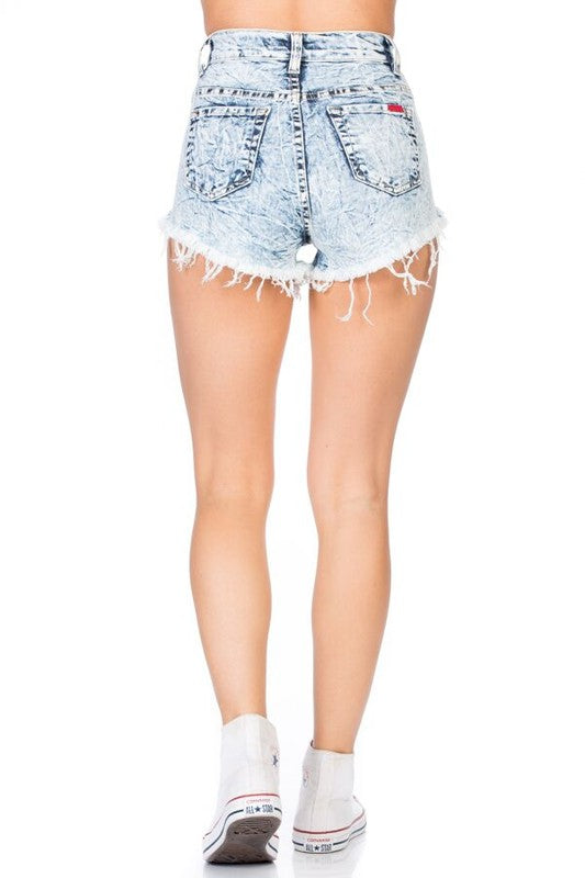 KIM HIGH RISE SHORT IN MINERAL WASH  LIGHT