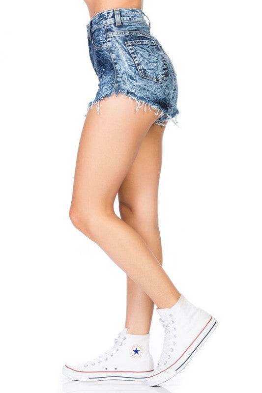 Kim High Rise Short Mineral Wash Dark
