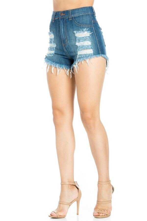 Aby High Rise Short Dark Blue