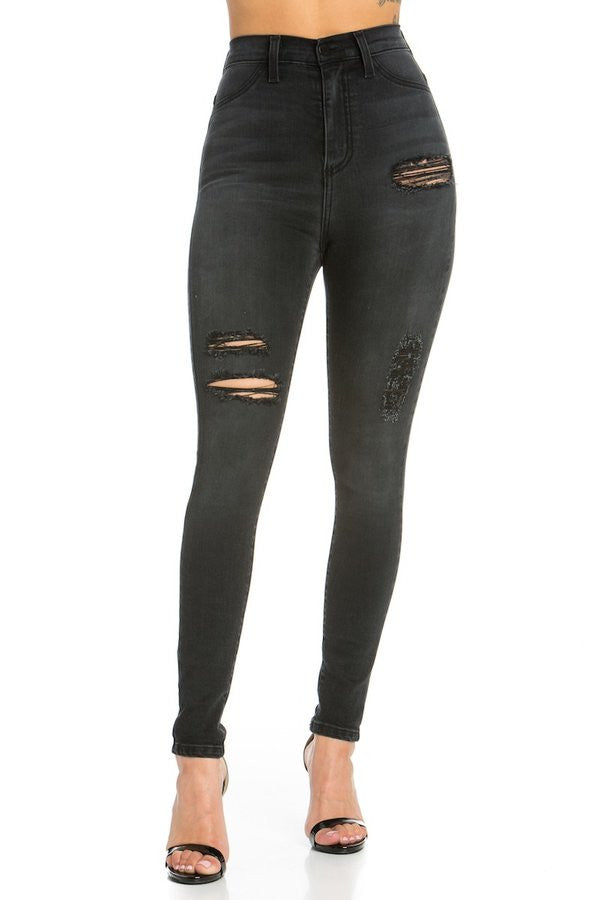 Laura High Rise Skinny Jean Charcoal