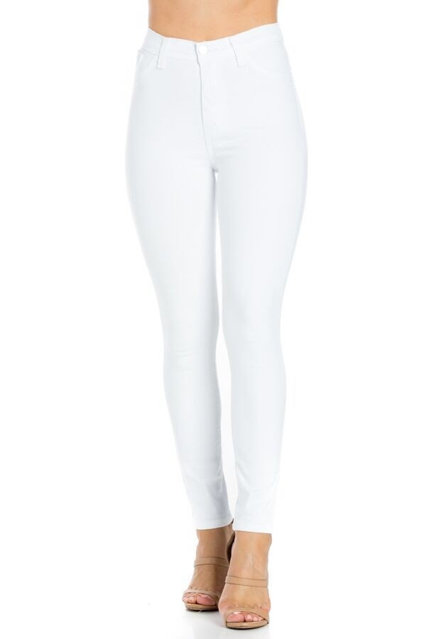 Classic High Rise Skinny Jean in White