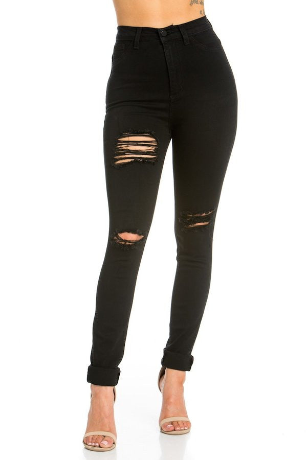 LAUREN HIGH RISE SKINNY JEAN BLACK