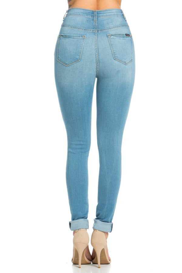 Kylie High Rise Skinny Jean in Medium Blue