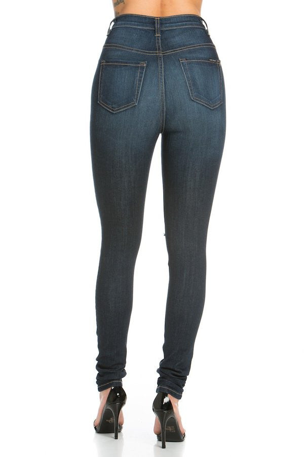 Kylie High Rise Skinny Jean Dark Blue