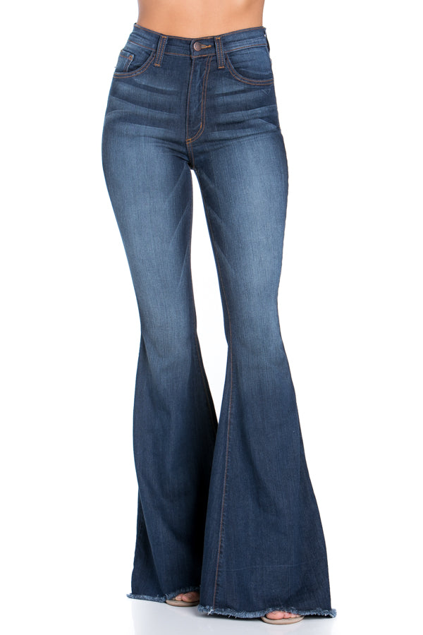 Logan Flare Jean - Dark Blue