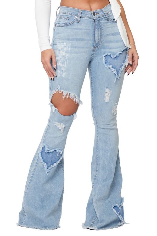 XOXO Flare Jean in Light Denim