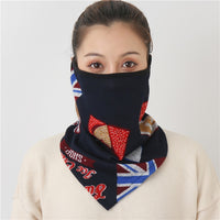 2020 New Women Winter Scarves Cotton Feeling Mask Man Neck Scarf Rings Headband Soft Warm Face Scarfs Masks