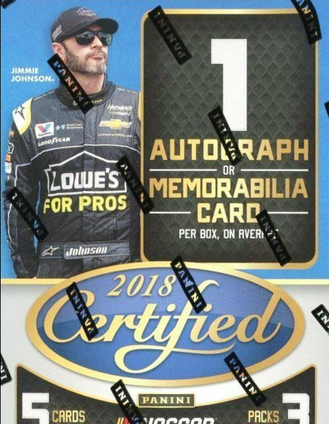 2018 Panini Racing Certified Blaster Box
