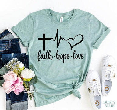 Agate T-shirts Faith Love Hope T-shirt