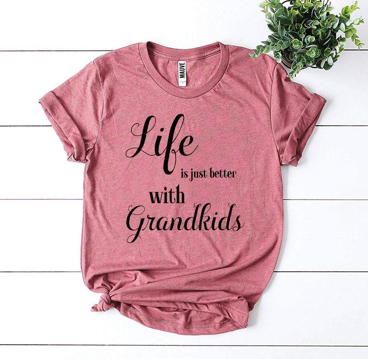 Agate T-shirts Life Is Just Better With Grandkids T-shirt
