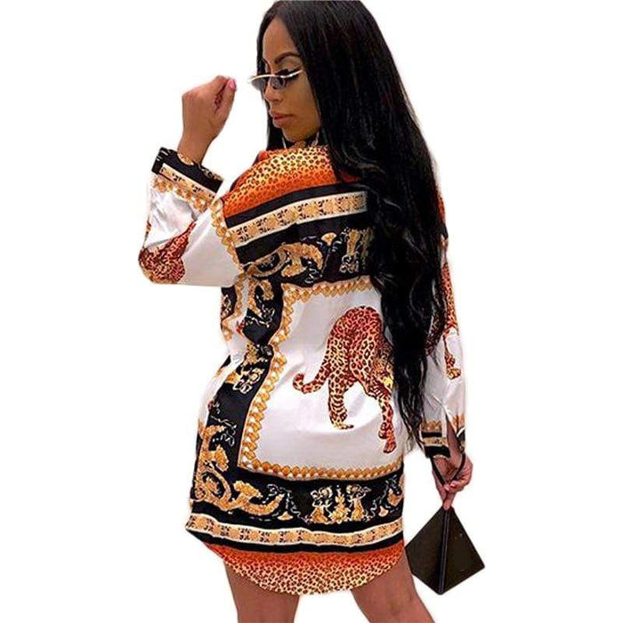 Agracei Trends 8 colors Women's Runway Designer long Sleeve Floral Blouses Shirts Spring Summer Baroque Tops Formal Printed Shirts