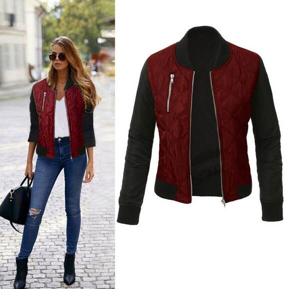 Agracei Trends Burgundy / L Spring Autumn Winter Fashion jacket women Long sleeve patchwork casual jacket Plus size 3XL