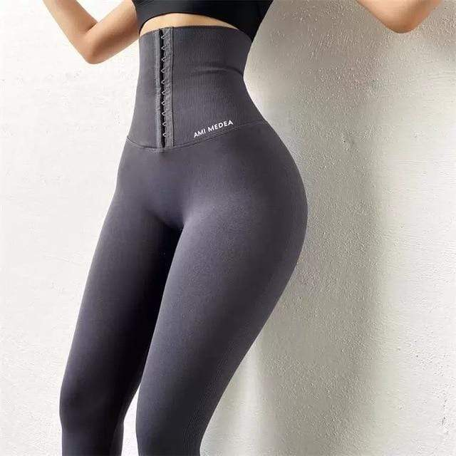 Agracei Trends Deep Grey / M Slimming Pants Women Sports Legging Waist Trainer Lift Up Butt Lifter Shapewear Tummy Control Panties Winter Trouser