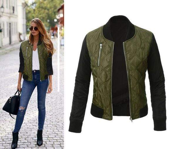 Agracei Trends Green / XXL Spring Autumn Winter Fashion jacket women Long sleeve patchwork casual jacket Plus size 3XL