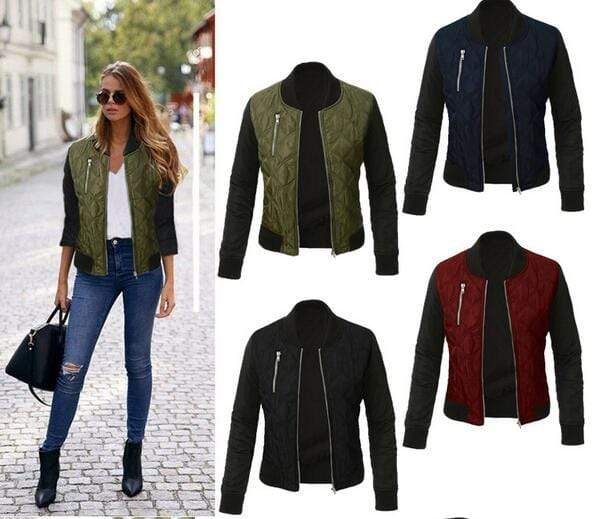 Agracei Trends Spring Autumn Winter Fashion jacket women Long sleeve patchwork casual jacket Plus size 3XL