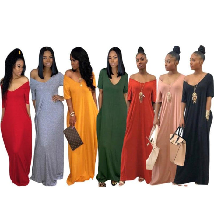 Agracei Trends Women's Long Maxi Dress Off Shoulder Bodycon Dress Ladies Autumn Casual Dress Party Dress Warm Cotton Winter Dress Oversize hot
