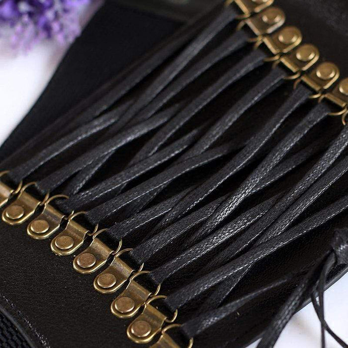 Cjdropshipping Women's Clothing Wide waist fashion elastic fringed belt decorative skirt accessories