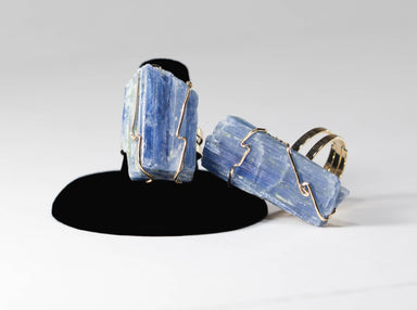 Green Ares Jewelry Raw Kyanite Ring