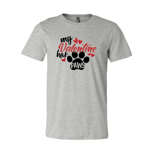 Red Alcestis T-shirts 2XL / Athletic Heather My Valentine Has Paws Shirt