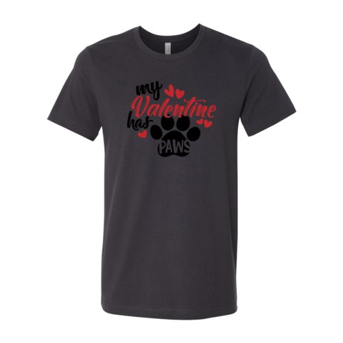 Red Alcestis T-shirts 2XL / Dark Grey My Valentine Has Paws Shirt