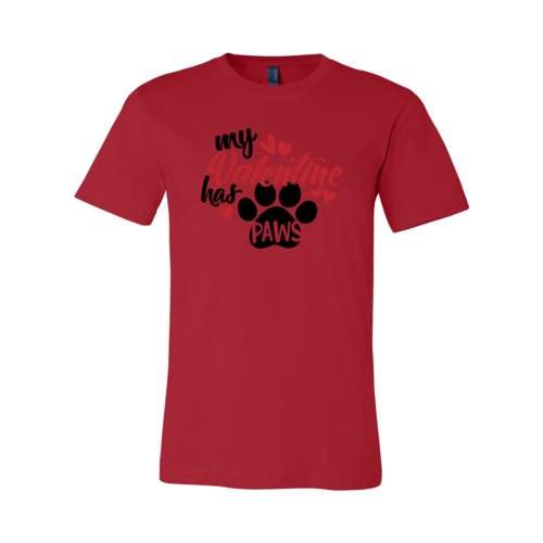 Red Alcestis T-shirts 2XL / Red My Valentine Has Paws Shirt