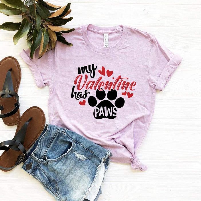 Red Alcestis T-shirts My Valentine Has Paws Shirt
