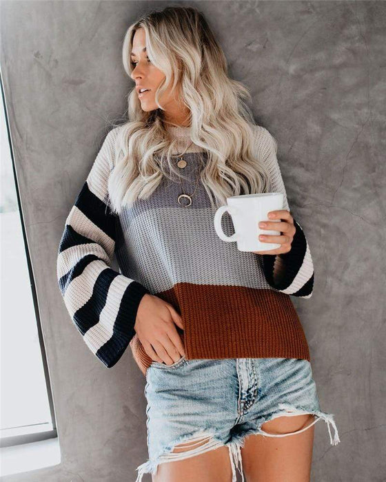 Silver Sam Women's Clothing Women Knitted Loose Jumper Sweaters