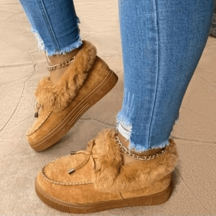 White Simba Boots 2020 Winter Women's Casual Fur Shoes Trending Furry Sneakers Ladies