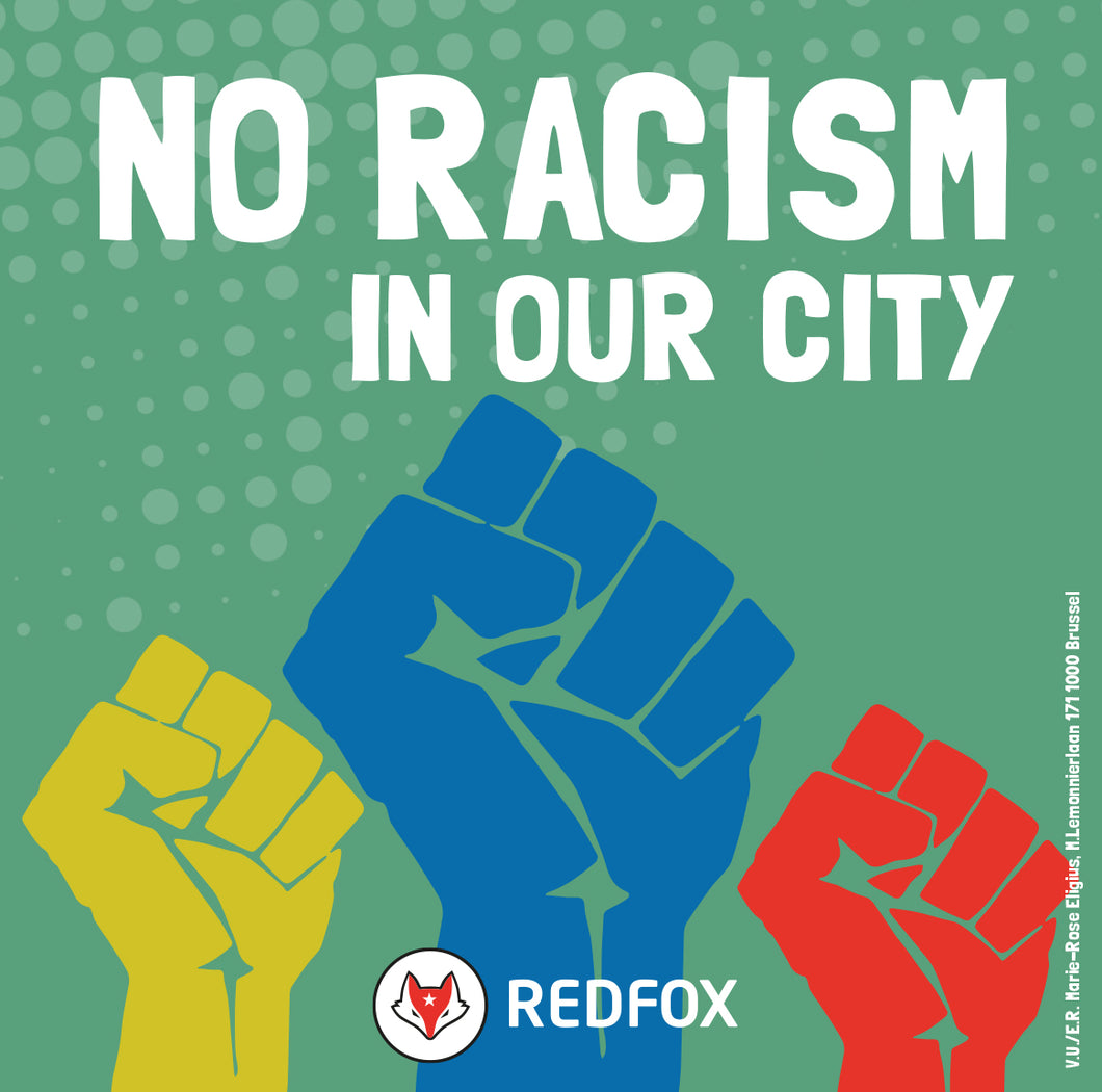 20 x No racism in our city - sticker