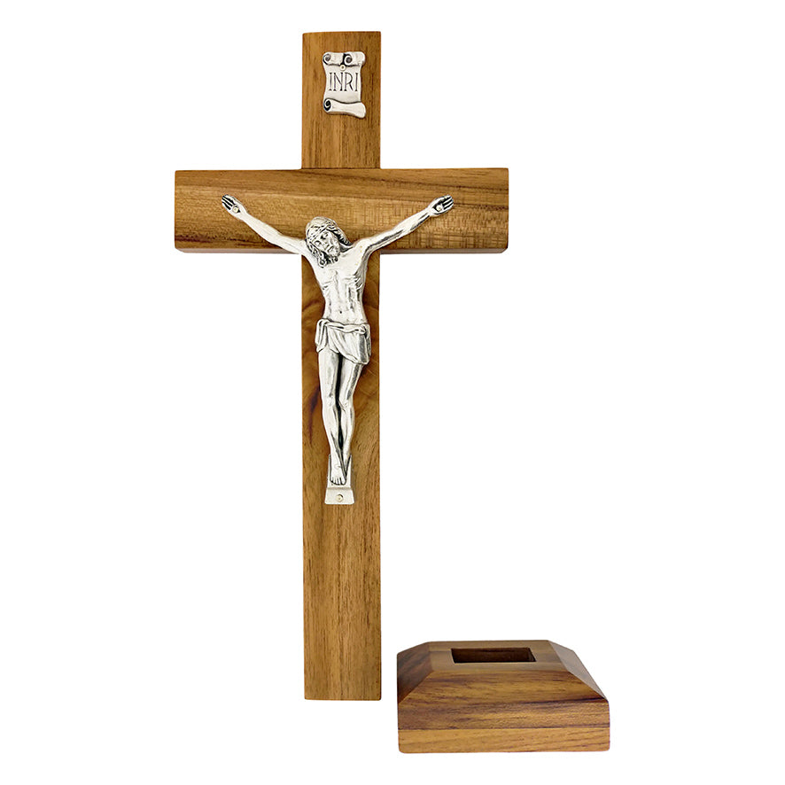 TEAK WOOD WALL AND TABLE CRUCIFIX