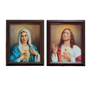 SACRED HEART OF JESUS / IMMACULATE HEART OF MARY FRAMED PICTURES