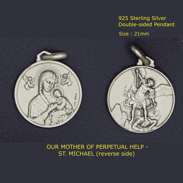 OUR MOTHER OF PERPETUAL HELP - ST. MICHAEL PENDANT (DOUBLE-SIDED)
