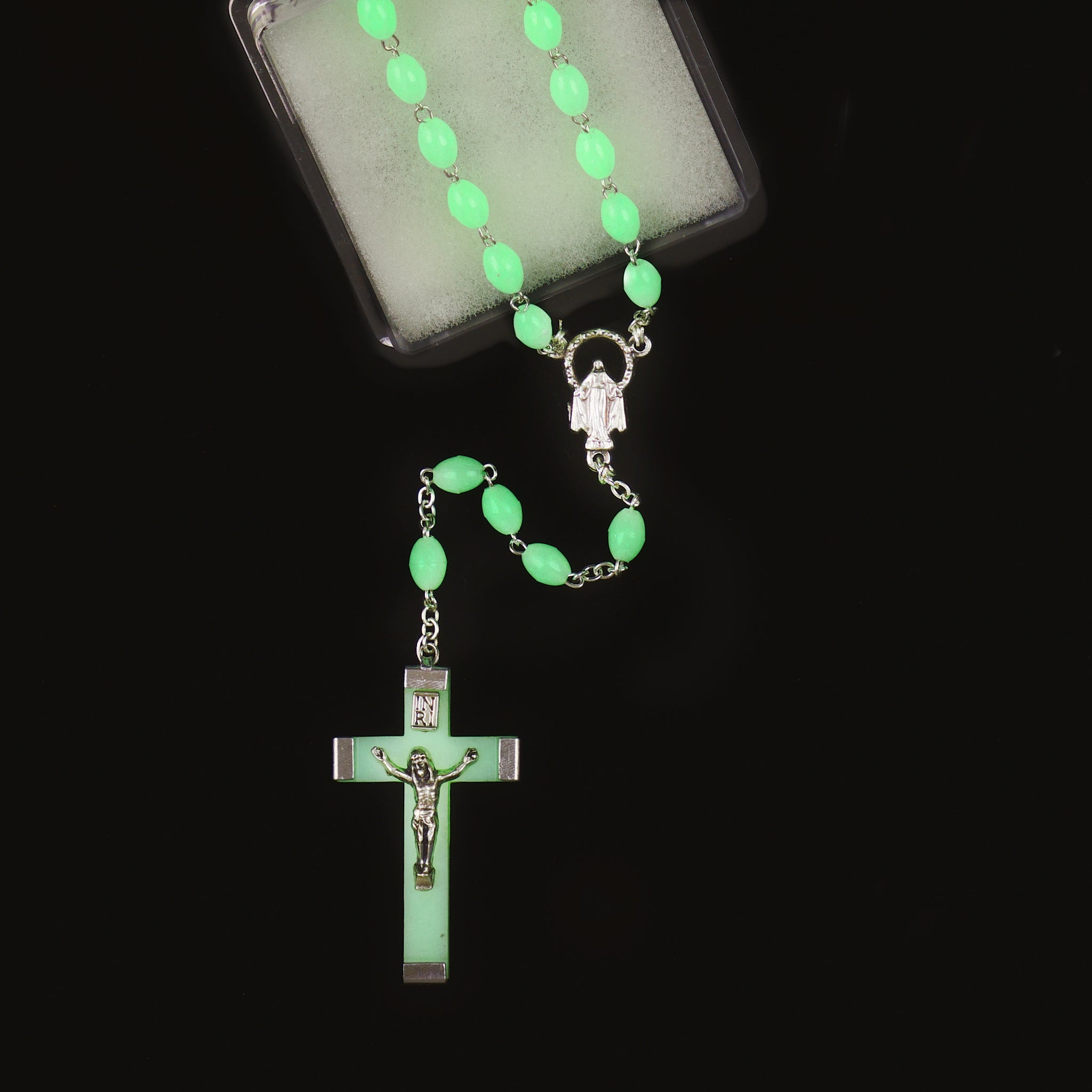 GLOW-IN-THE-DARK ROSARY (7mm)