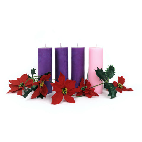 ADVENT PILLAR CANDLES (15cm)