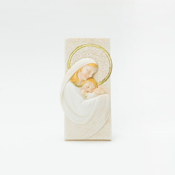 MARY AND BABY JESUS TABLE TOP PLAQUE