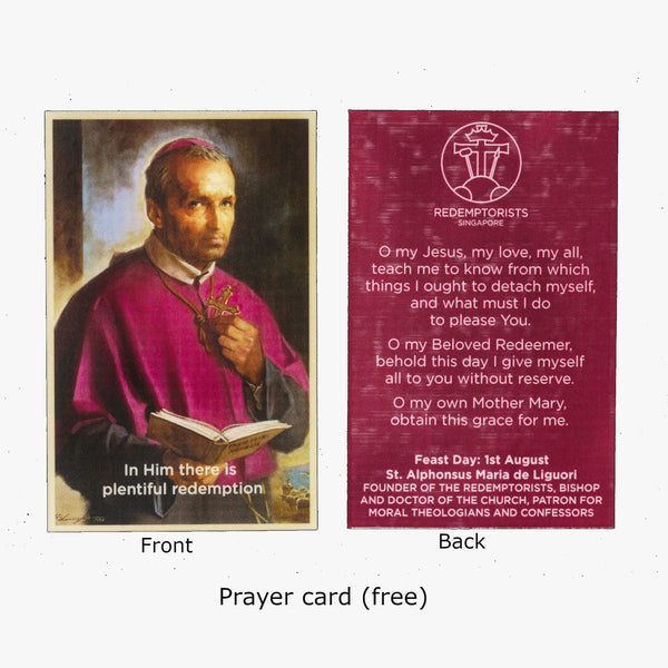 Saint Alphonsus Prayer Card Novena Singapore