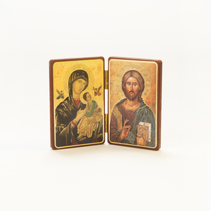 OUR MOTHER OF PERPETUAL HELP ICON AND JESUS THE TEACHER PLAQUE