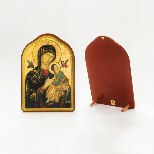 OUR MOTHER OF PERPETUAL HELP ICON WITH ARCH TOP