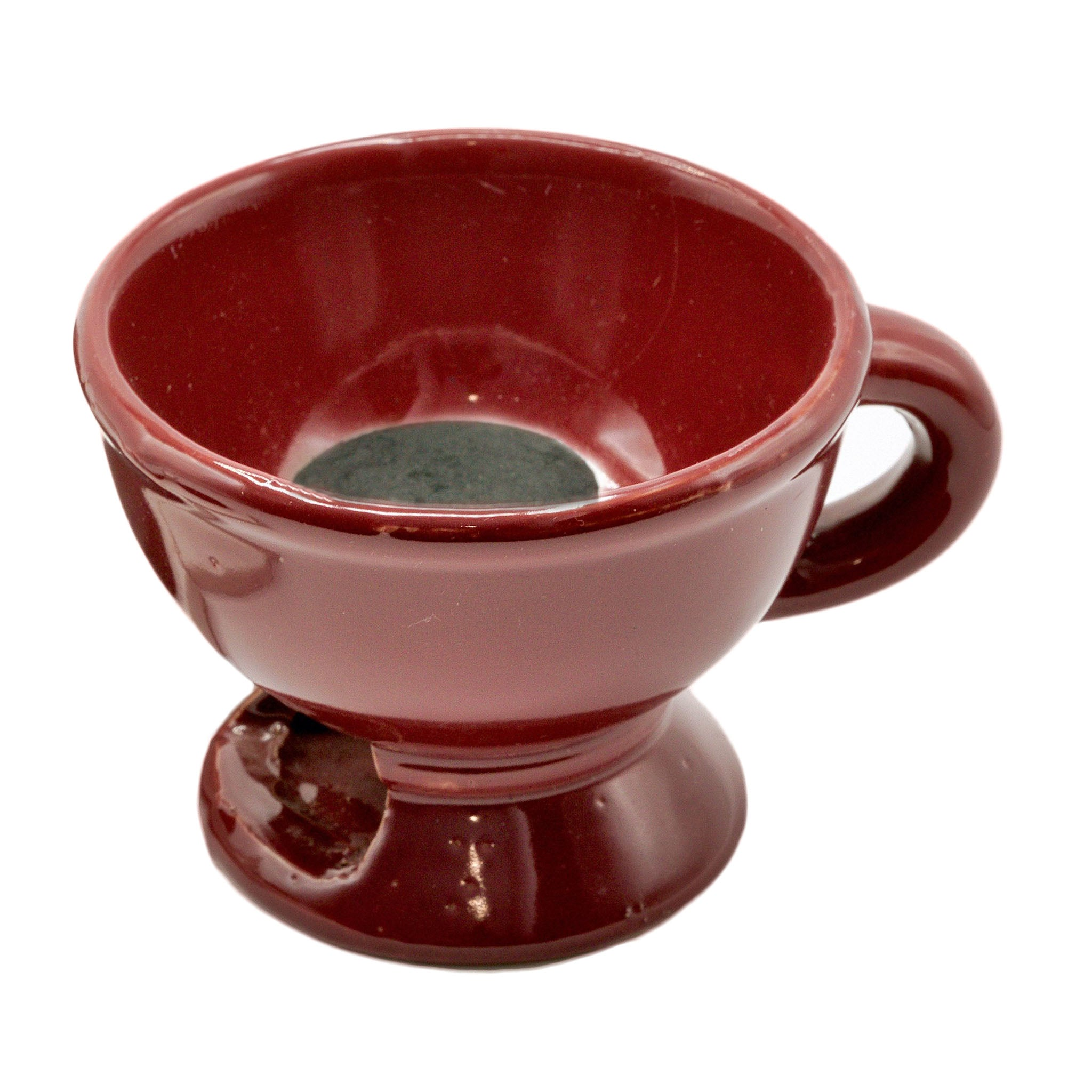 MAROON INCENSE POT (CHARCOAL SOLD SEPARATELY)