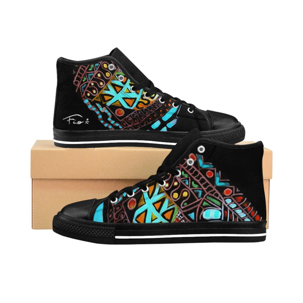 "Men's High-top Sneakers ""ETNICO"" by Fio"